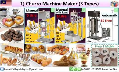 Churros Maker Churro Machine Mesin *Video*Full Set