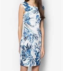 New: Floral Sleeveless Dress - Size M