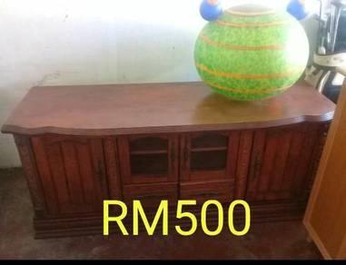 Cabinet tv rak tv kayu solid