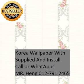 Beautiful In Wall paper with Installation vbnj585