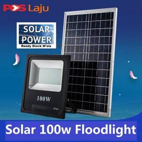 100W Solar LED Floodlight Cool White Remote Contro