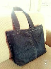 Jeans tote bag custom made