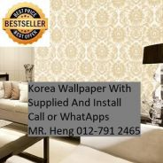 Beautiful In Wall paper with Installation ht4389t4