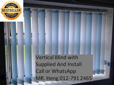 Easy Use Vertical Blind - with installation h87g76