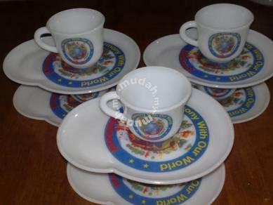 Piring cawan antik antique National tea cup saucer