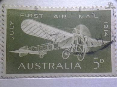 Stamp Antik Australia July 1914
