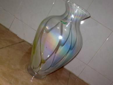 Pasu kaca vintage glass vase