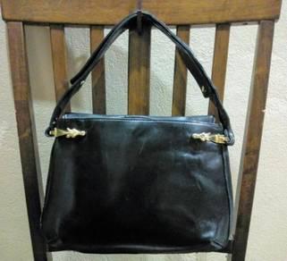 Tote/ Shoulder Bag Leather Vtg GUCCI
