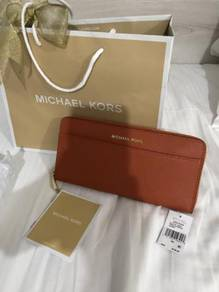 Michael Kors Leather Wallet (32T7GTVZ3L Orange)