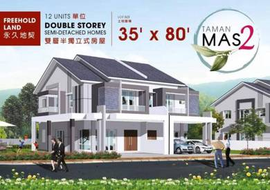 Double storey semi detached taman mas 2