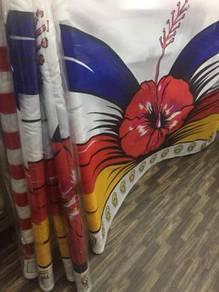 Banner Bunga Raya(Kain Rentang Bunga Raya Sekolah)