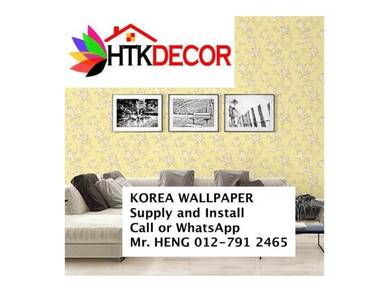 3D Korea wall paper with installation 125T