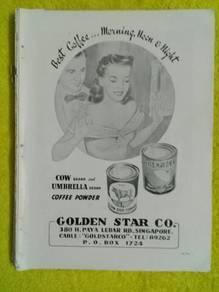 119 Antik iklan lama cow brand coffee majalah 1953