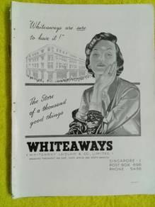 119 Antik iklan lama whiteaways dr majalah 1953
