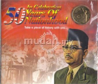 Tunku Abd Rahman coin card combo set