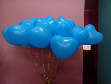 Heartshape balloon - blue