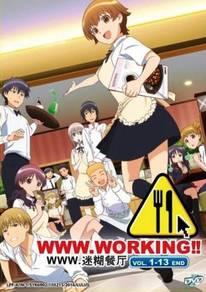 DVD ANIME WWW.WORKING Vol.1-13End