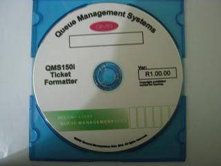 QMS150i - CD Software Ticket Setting