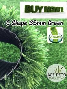(Harga Murah )Luxury C35mm Green Rumput Tiruan