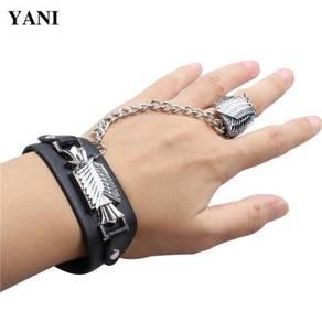 Anime Naruto One piece bleach Bracelet+RING