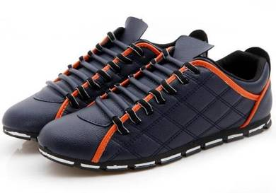S0243 Classic Blue Stylish Sneakers Casual Shoes