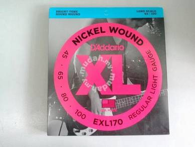 D'Addario 045-100 Bass Guitar 4 String (EXL170)
