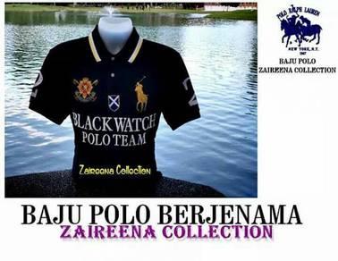 Tshirt polo big pony blackwatch - black