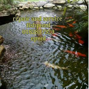 Repair and service fishpond
