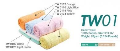 Hand Towel Cotton 100% 14InchX26Inch 70gsm TW01XX