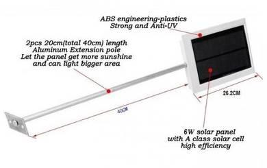Lampu Spot Solar Berlengan 80 Lumens Autosensor