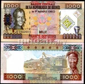 Guinea 1,000 francs 2010 p new unc
