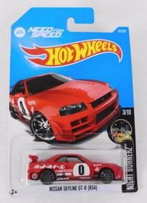 HotWheels Nissan Skyline GT-R (R34) Need For Speed