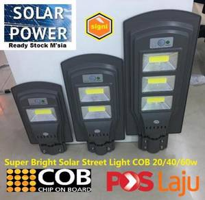20w 40w 60w LED solar Street lights COB Outdoor