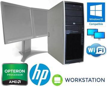 HP Workstation XW4550 4GB + monitor Win7 Server PC
