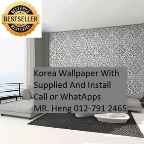 Wall paper with Installation for your Living Space