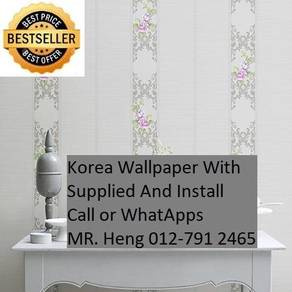 Wall paper Install at Living Space cghj852