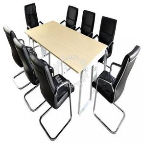 Discussion Work Table Come With 8 PU Office Chairs