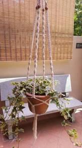 Handmade Macrame Pot Hanger -Blossom