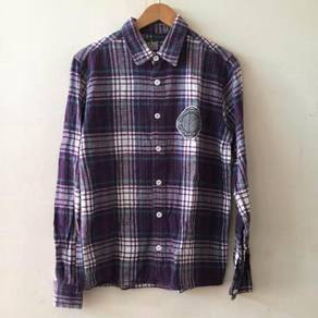 KingSize Plaid Flannel Size L Shirt