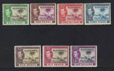 Gambia kgvii 1938-1946 7 mh cat 10+ bl395