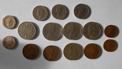 Old British Coins from 1948 - 1980'