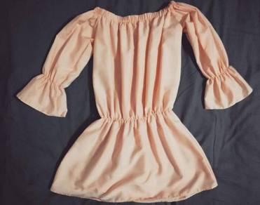 Pastel pink off shoulder dress or top