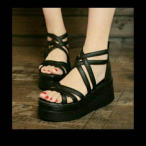 Wedges Stripe Black