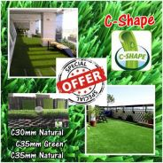 TOP Artificial Grass / Rumput Tiruan Serat C-Shape