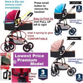 Europe Premium Class 2 way Baby Stroller Prams