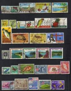 British Commenwealth stamps Malaya QE GROUP BJ199