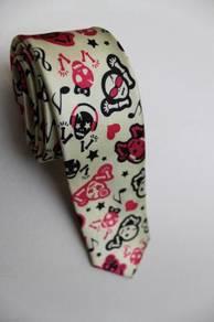 SLIM Musical Skull Emo Punk Rock Cartoon Neck Tie