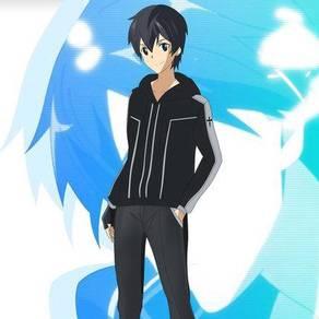 Anime SAO kirito sweater wind breaker