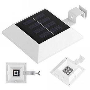 Square Solar Gutter/Fence Light Sensor Auto On Off