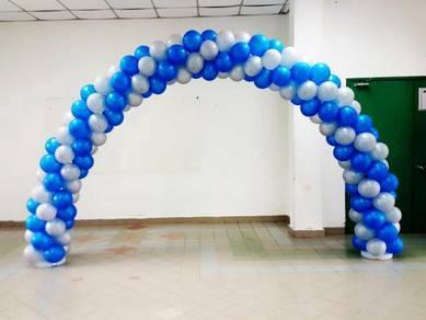 Balloon White Blue Deco 00148